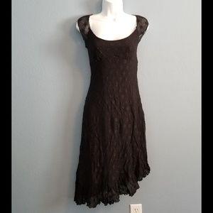 Betsey Johnson Black Asymmetrical Cocktail Dress